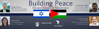 Pacific Dialogue Event – Building Peace Between Israelis and Palestinians