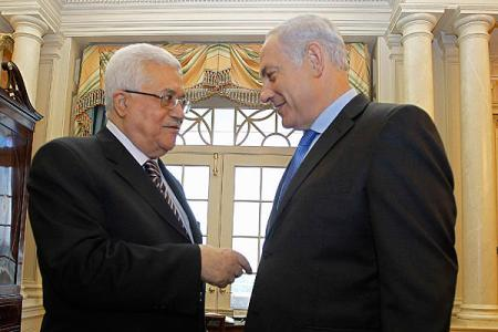 Mahmoud Abbas and Benjamin Netanyahu