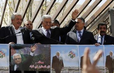 Abbas returns to Ramallah from US Photo: REUTERS