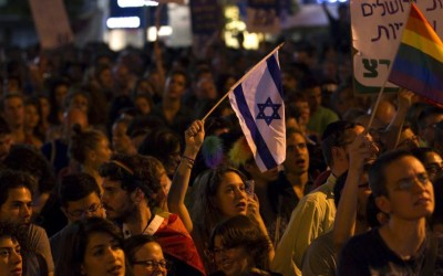 Anti violence rally in Tel Aviv. (photo credit:REUTERS)