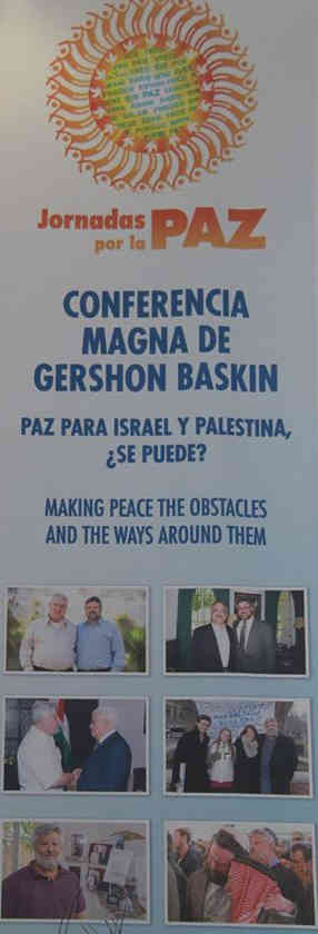 "Gershon Baskin spoke on the subject: ""Peace for Israel and Palestine: Is it Possible?"" at the ""Making Peace, the obstacles and the ways around them"" session at the Days for Peace Conference in Mexico City."