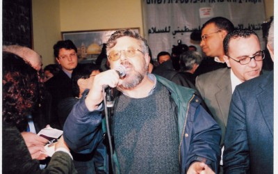Gershon Baskin Speaking at the Israeli-Palestinian Coalition for Peace Rally