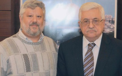 Gershon Baskin and Mahmoud Abbas