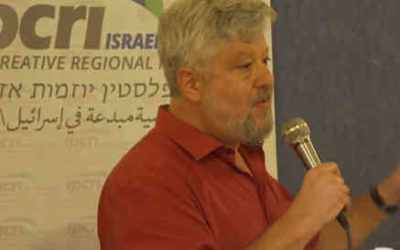 Gershon Baskin shares his insights on the future of Gaza at the IPCRI forum that focused on the future of Gaza.