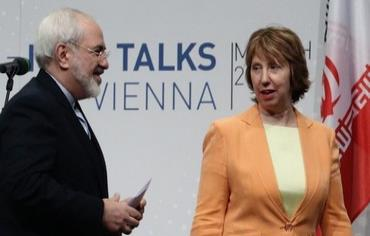 Iranian FM Mohammad Javad Zarif (L) and EE foreign policy chief Catherine Ashton at nuclear talks in Vienna March 19, 2014. Photo: REUTERS