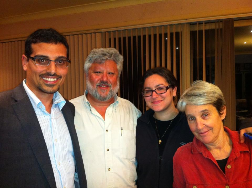 Manny Waks, Gershon Baskin, Shifra Waks and Sheree Waks at Limmud Australia, 2013