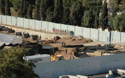 Construction at the Jerusalem Museum of Tolerance