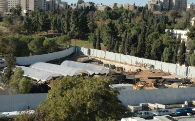 The Center for Human Dignity is the Simon Wiesenthal Center-planned Museum of Tolerance over Mamilla Cemetery at the center of West Jerusalem