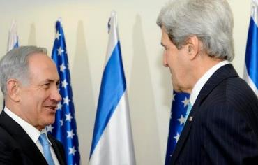 Netanyahu and Kerry, March 31, 2014. Photo: DAVID AZAGURY, US EMBASSY TEL AVIV