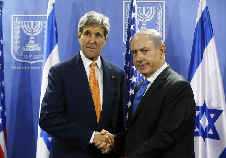 Kerry, Netanyahu in Tel Aviv July 23. (photo credit:REUTERS)