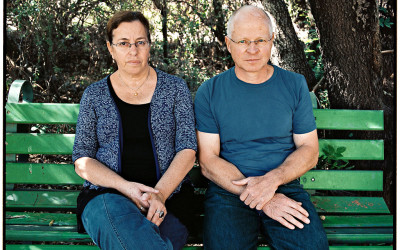 Gilad Shalit's parents, Aviva and Noam. Credit Michal Chelbin and Oded Plotnizki for The New York Times