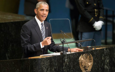US President Barack Obama addresses the general debate of the General Assembly's seventy-first session. UN Photo/Manuel Elias