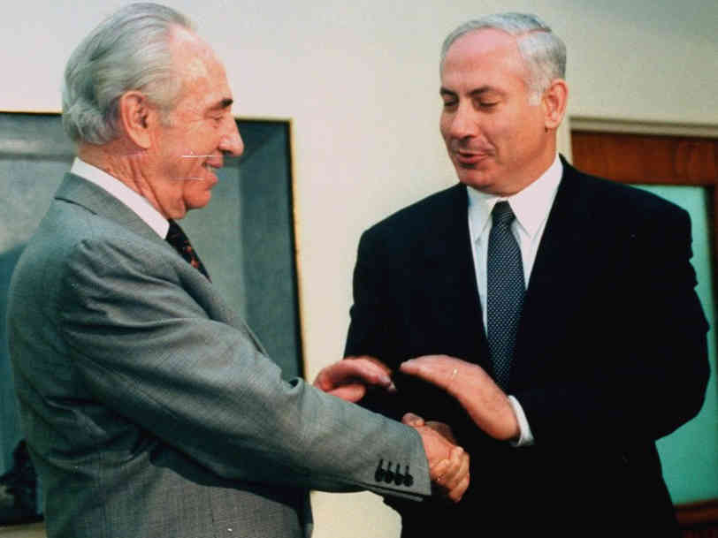 Shimon Peres and Benjamin Netanyahu