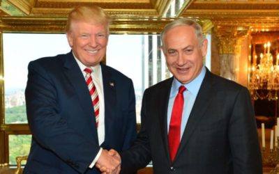 Donald Trump and Benjamin Netanyahu at Trump Tower, September 25, 2016. Credit: Israel Government Press Office (GPO)